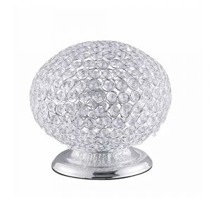 Oval Table Lamp (Silver)