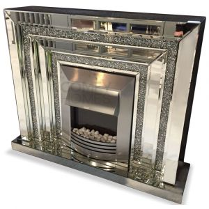 Crushed Crystal 120Cm Tiered Fireplace (Milano) - Pre Order