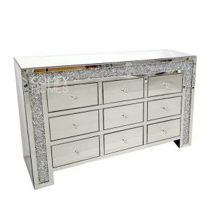 Crushed Crystal 9 Drawer Chest (Milano)