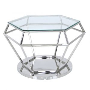 Hexagon Stainless Steel Coffee Table