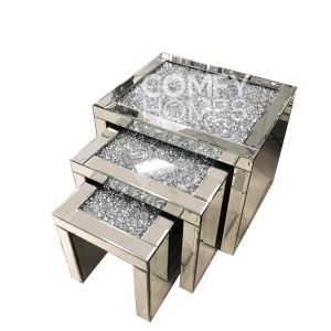 Crushed Crystal Nest Of Tables (Milano)