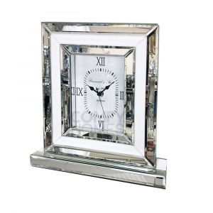 White Glass Table Clock (Marco)