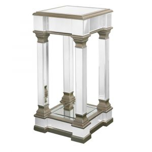 Alivia Champagne Mirrored End Table