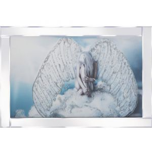 Angel On Cloud Mirrored Picture Frame