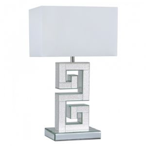 Mirrored Alison Champagne Sparkle Table Lamp