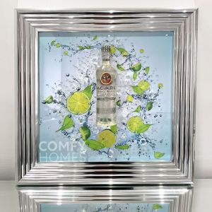 3D Rum and Lime Bottle Frame