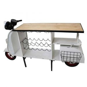 White Scooter Bar Unit