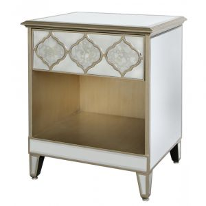 Mirrored Masira Bedside