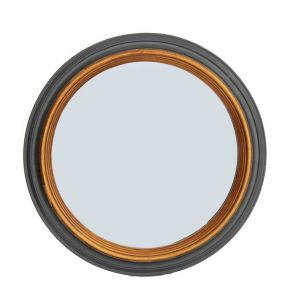 Black And Gold Round Wall Mirror