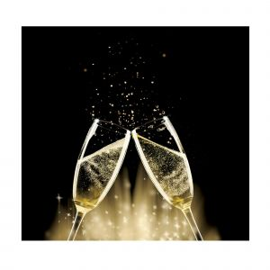 Champagne Cheers Custom Made Picture Frame