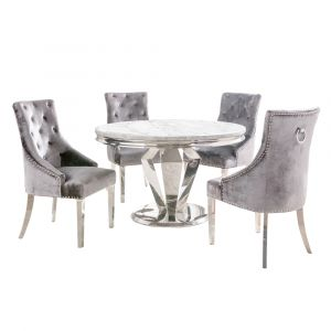 Winsor Round Marble Dining Table