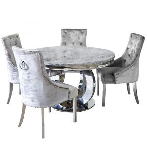Chelsea Round Marble Dining Table