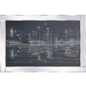 City Nightscape Mirrored Picture Frame