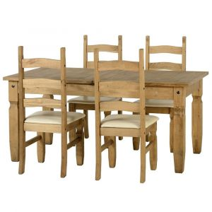 Clara Extending Dining Table With 4 Chairs