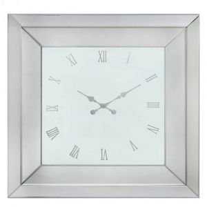 White Glass Large Clock (Marco)