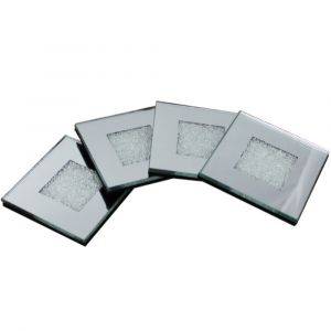 Set Of 4 Mirrored Coasters