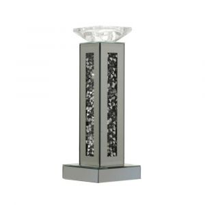 Mirrored Crushed Crystal Rectangle Candle Holder (Milano) Alternative