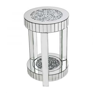 Mirrored Crushed Crystal Round Side Table (Milano) Alternative