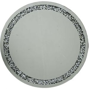 Crushed Crystal 70 X 70Cm Round Wall Mirror (Milano)