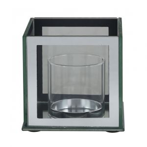 Cube Mirrored Frame Candle Holder