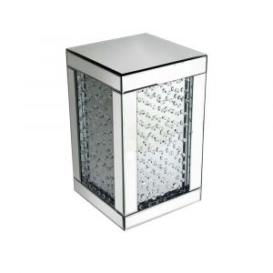 Floating Crystal Mirrored Cube