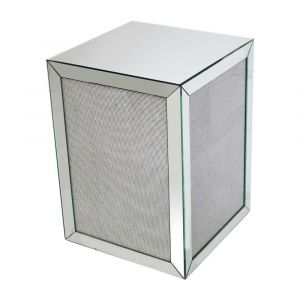 Mirrored Glitter Cube Table