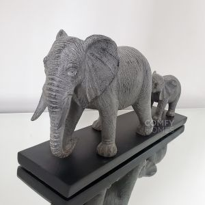 Follow The Leader Father & Baby Elephant Ornament