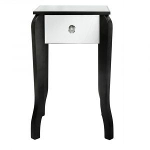 Pascual Black and Mirror End Table