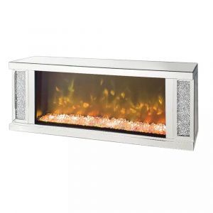 Crushed Crystal Flame Effect Wall Mount (Milano)