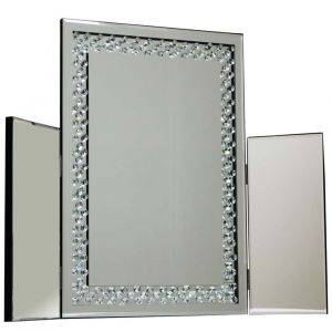 Floating Crystal Dressing Table Mirror