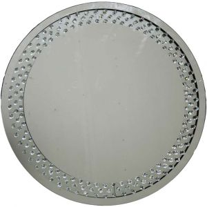 Floating Crystal Round Wall Mirror