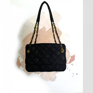 Black Quilted Purse Custom Made Frame