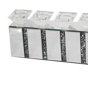 Mirrored Crushed Crystal 5 Candle Holder Set (Milano) Alternative