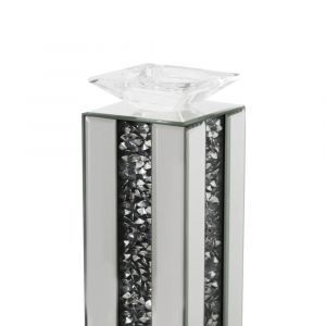 Mirrored Crushed Crystal Candle Holder (Milano) Alternative