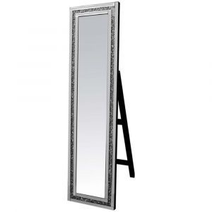 Crushed Crystal 150 X 40Cm Cheval Mirror (Milano)