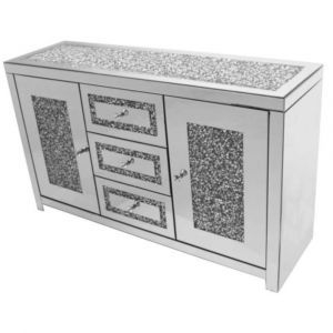 Mirrored Crushed Crystal Sideboard (Milano)