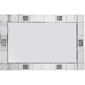 Crushed Crystal 120 X 80Cm Tiled Wall Mirror (Milano)