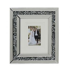 Mirrored Crushed Crystal Photo Frame (Milano)