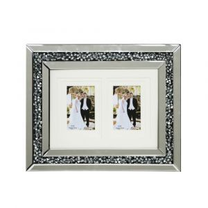 Mirrored Crushed Crystal 2 Photo Frame (Milano)