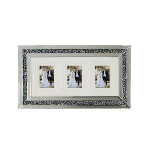 Mirrored Crushed Crystal 3 Photo Frame (Milano)