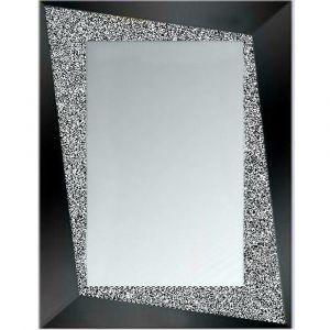 Crushed Crystal Rectangle Frame Mirror (Sofia)