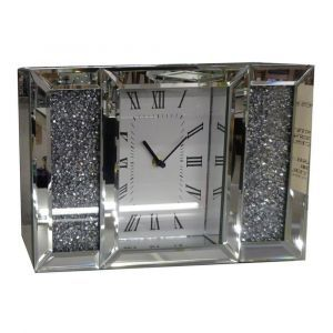Mirrored Crushed Crystal Mantle Clock (Sofia)