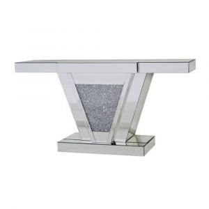 Mirrored Crushed Crystal Console Table (Sofia)
