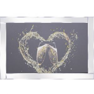 Gold Champagne Mirrored Picture Frame
