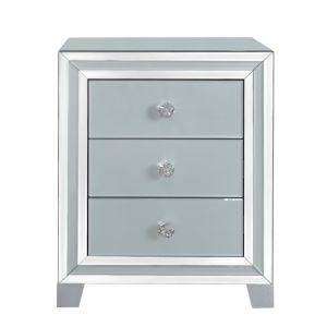 Grey Mirrored Marco Bedside