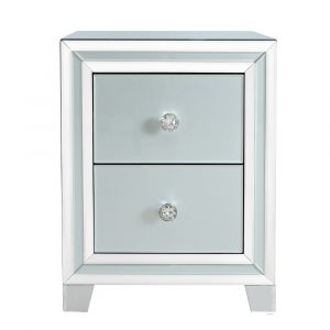 Grey Mirrored Marco Small Bedside