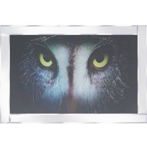 Grey Owl Mirrored Picture Frame