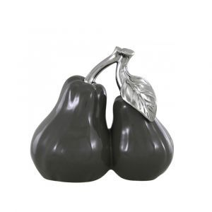 Small Grey Pair Of Pears Ornament