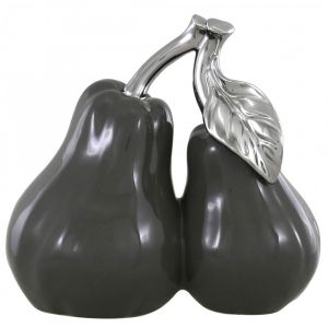 Large Grey Pair Of Pears Ornament