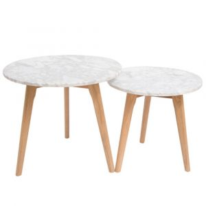 Harlin Marble Top Nest Of Tables